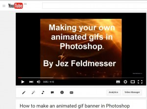 how to use Photoshop to create animated banners